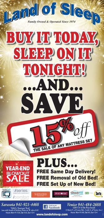 Year-End Mattress Sale Blowout!