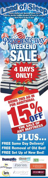 President's Day Mattress Sale!