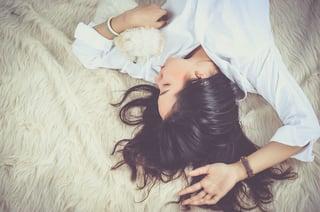 girl sleeping in position
