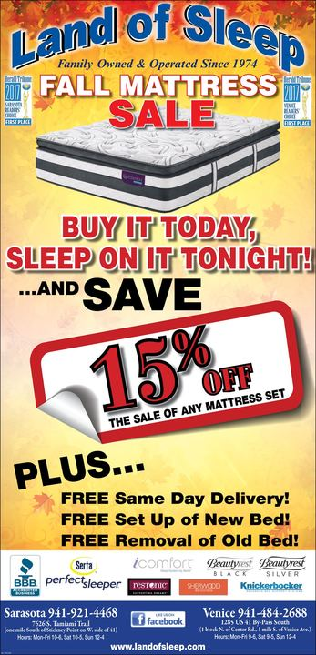 Fall Mattress Sale!