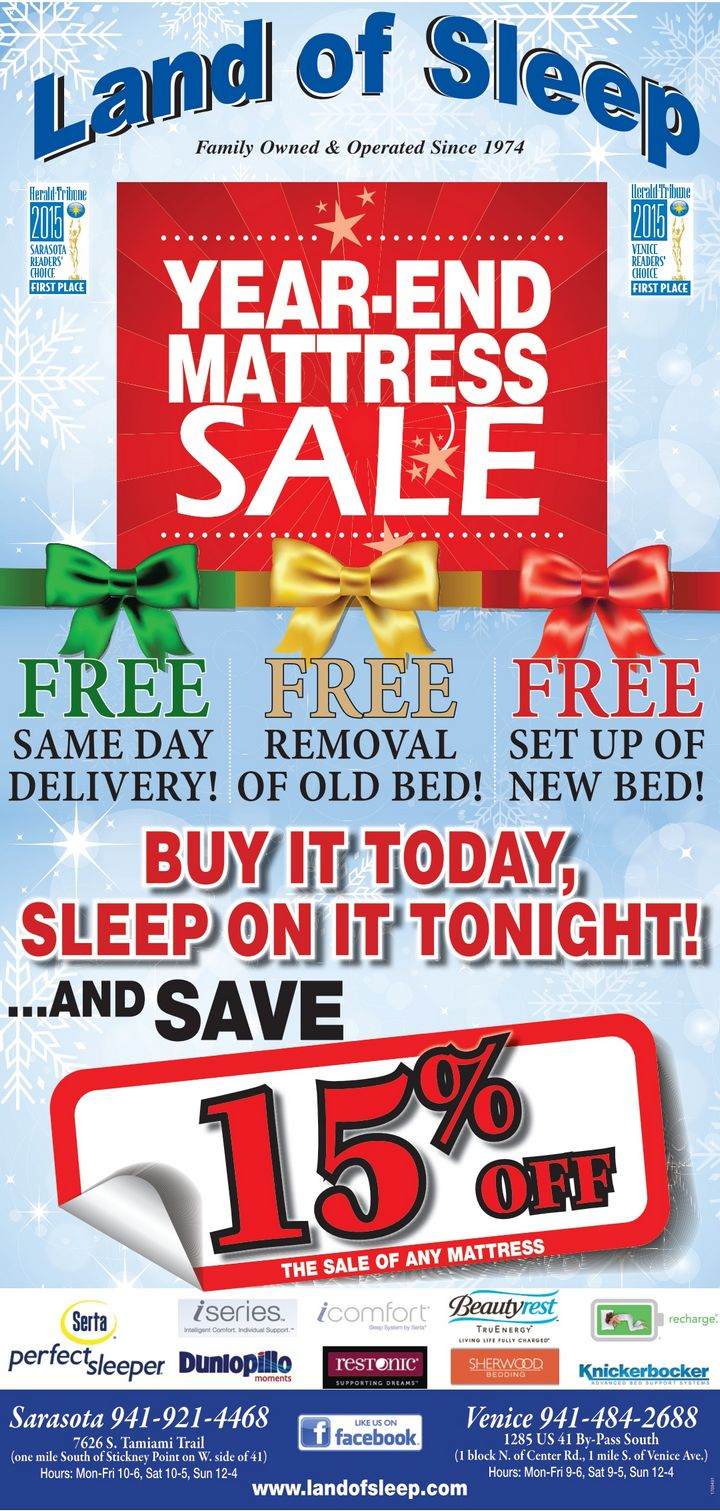 Save Big at the Land of Sleep Year-End Mattress Sale!