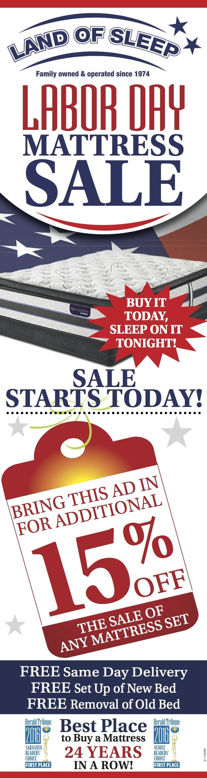 Check Out our Labor Day Mattress Sale!