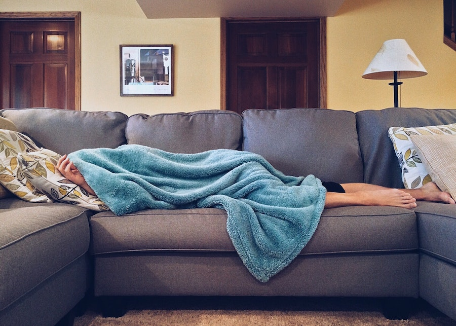 napping on couch